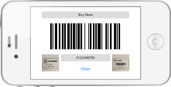 Display the Barcode
